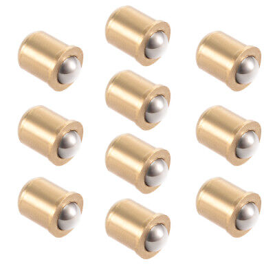 5mm Ball Dia Brass Electroplating Door Cabinet Ball Catch Latch Closures 10pcs