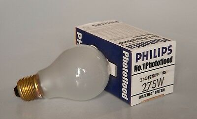 Philips No 1 Photoflood 240v 275w Lamp Bulb ES