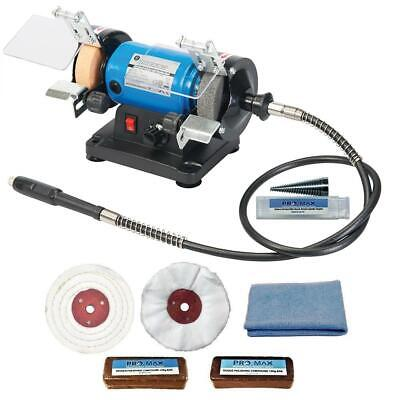 "Jewellery Polishing Machine Bench Grinder 3"" 120W & 3""  Jewellery Polishing Kit"