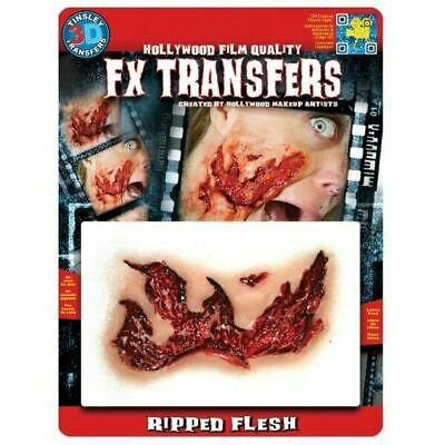 Tinsley Transfers 3D Fx Transfers Ripped Flesh Halloween Wound Blood Cut Skin