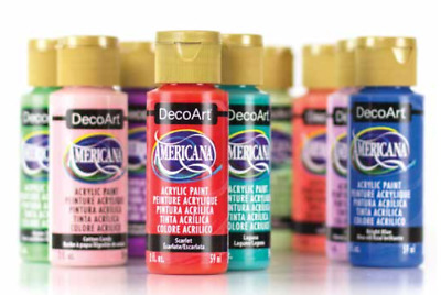 2oz Decoart Americana Acrylic Paint All Colours Art Craft Water Based Artist New