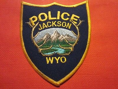 Collectible Wyoming Police Patch, Jackson, New
