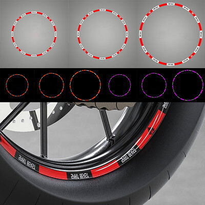 12/14/17inch Motorcycle Tyre Reflective Steel Ring Stickers Motorbike Wheels G