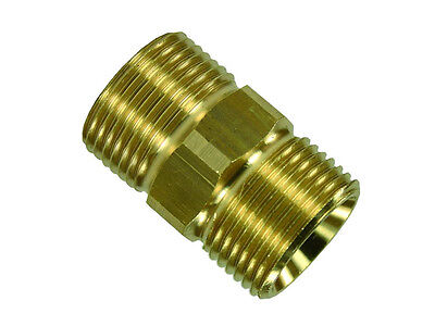 Hose Connector for High Pressure Hose Extension Brass 2 x M22 Ag Clutch