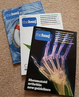 British Medical Journal BMJ 3 Issues 21-28 July, 4-11 August, 18-25 August 2018