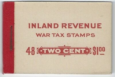 CANADA - #FWT8f - 2c KING GEORGE V WAR TAX REVENUE COMPLETE BOOKLET (1915) MNH