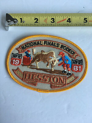 VTG National Finals Hesston Rodeo Patch 1981 Bull Riding Clown Rider Athlete