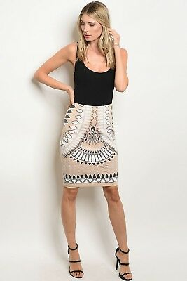Classy and Beautiful Fitted Waist all Over Sequins Midi Skirt - Bohemian Chic