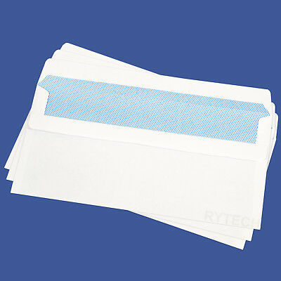 DL Envelopes Plain White Self Seal 90GSM Opaque Letter Pack Office Home Business