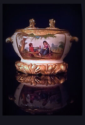 Mid 19th Cen.French Ormolu Mounted Paris Porcelain Inkwell/Tintenfass, 13x18x11