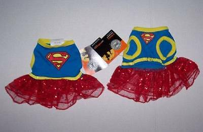 DC Comics Supergirl Dog Costume Dress Size Small Halloween Superman Girl