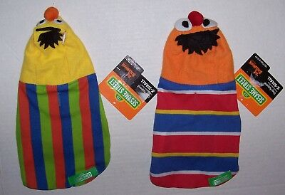 NWT Sesame Street Bert and Ernie Dog Costume Size Extra Small XS Halloween Lot 2