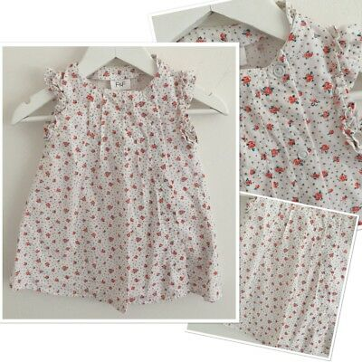 F&f Baby Girls Ditsy Floral Summer Tunic Dress 3-6 Months