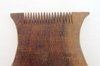 Antique Old Rare Indian Comb Hand Carved Wooden Indian Tribal Unique Lady Comb