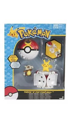 Pokemon Throw n Pop Pikachu & Poke Ball With Cubone Repeat Action Figure Set