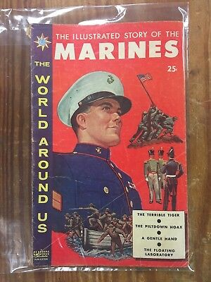 Vintage CLASSICS ILLUSTRATED The World Around Us - The Story of The Marines
