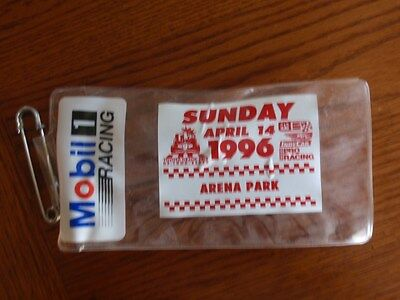 Vintage Mobil 1 Racing Oil Indy Racing Ticket Holder with Pin ~Toyota Grand Prix
