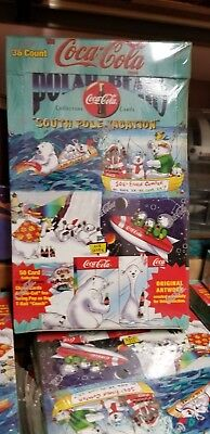 1996 Collect-A-Card Coca Cola South Pole Vacation Polar Bears Trading Card Box