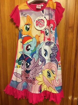 Girls My Little Pony Night Dress Nightshirt Age 5-6 Short Sleeved New Tags