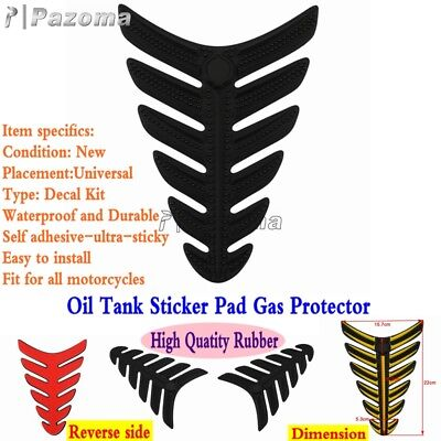 Motorcycle 3D Rubber Modified Decal Sticker Gas Oil Fuel Tank Pad Protector New