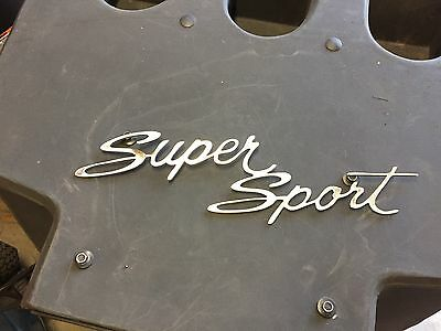 "Plasma cut "" Super Sport"" logo style 3 Metal Man Cave/Garage Wall Art"
