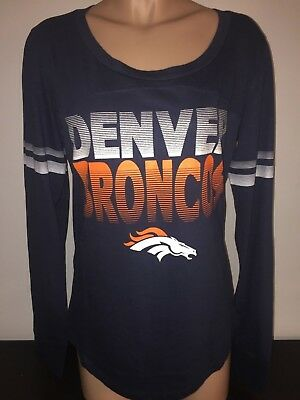 7dada1753 DENVER BRONCOS NFL 5th   Ocean by NEW ERA Womens Long Sleeve T-Shirt L