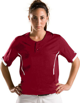 Under Armour Women's Softball Jersey Shirt Ladies Shirt Top Sizes 2XL Maroon