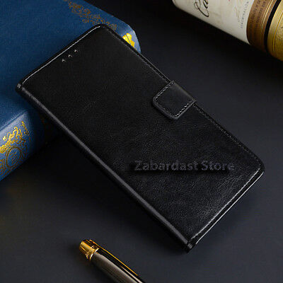 Leather Wallet Pouch Book Card Slot Stand Shockproof Case Cover For Mobile Phone