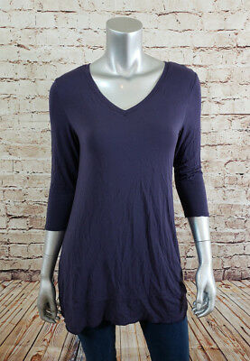 Lysse Top Womens Size Small Purple Double Layer Tummy Control Shaper