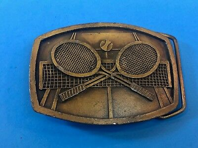 from 1977 -  Indiana metal craft Tenns ball and net vintage sports belt buckle