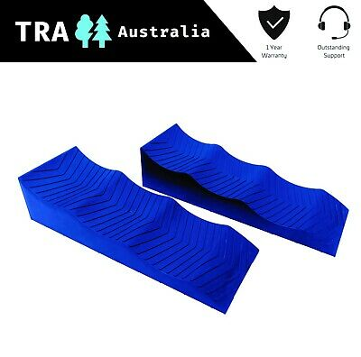 2 x BLUE 3 Stage Levelling Ramps Caravan RV steps Levellers Ramp accessories