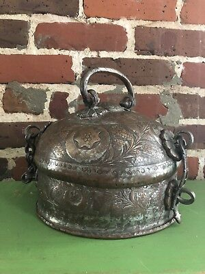 Handmade Hammered Copper Container