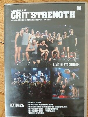 Les Mills Grit Strength 08 HIIT DVD, CD, & NOTES Bodypump