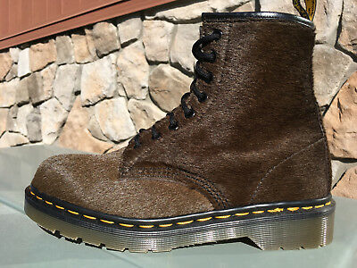 8e9e8ae283856d 90 s Vintage Dr. Martens Brown Pony Hair on horsey US 8 eye boots 1460 doc