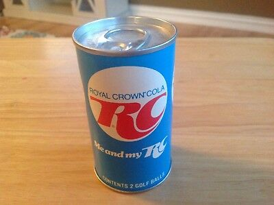 VINTAGE RC COLA  SODA GOLF BALLS vacuum SEALED IN CAN NOS late 1970's RARE!