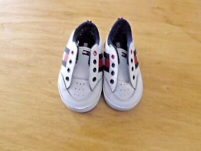 4187efd46 TOMMY HILFIGER INFANT Baby Crib Shoes Red Leather Size 2 M Vintage ...
