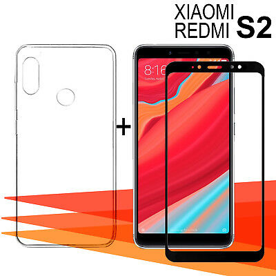 Xiaomi Redmi S2 + 5,99 Inches Protector glass glass tempered + cover