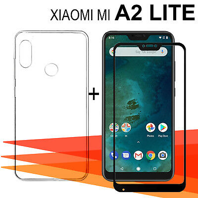 "Xiaomi Mi A2 Lite + 5,84"" Protector glass glass tempered full + cover"