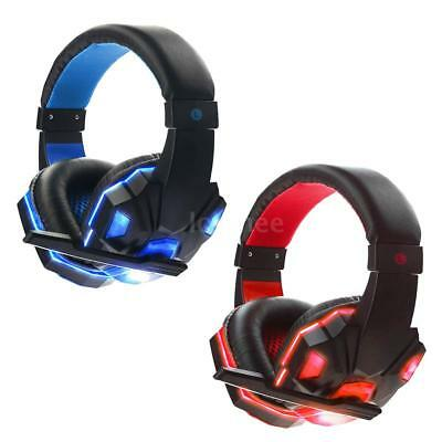 USB 3.5mm Surround Stereo Gaming Headset Music Headphone w/MIC For PC Laptop