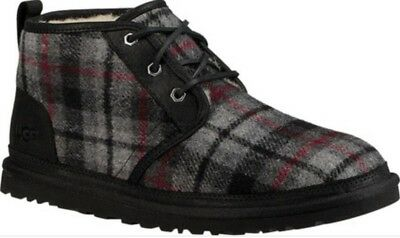New with Box UGG Australia Men's 11 Nuemel Lace Up Boots, Plaid, TPLD 1019168