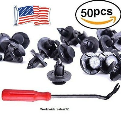 50 Pcs Nissan Retainer Clips And One Plastic Fastener Remover - Stronger Than Or