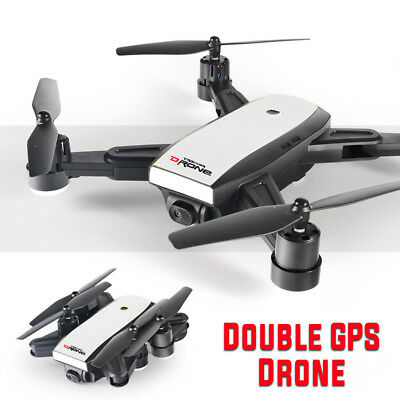 5MP 720P Foldable Dual GPS Drone Camera 2.4G Wifi FPV Quadcopter Helicopter 6LED