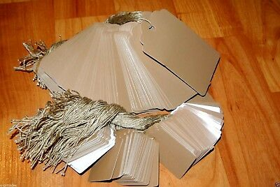 LOT 200 / 100 LARGE 100 SMALL Scalloped KRAFT Print  Paper Price Tags w/ String