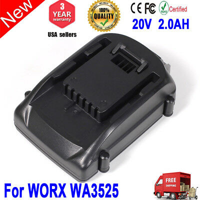 For WORX WA3525 WA3520 WG890 WG891 WG151 WG150 WG160 20V 2.0AH Replace Battery