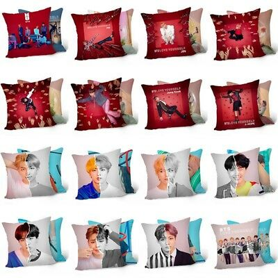KPOP BTS Pillow Case LOVE YOURSELF 結 ANSWER Double-Sided Cushion Cover Fans Gift