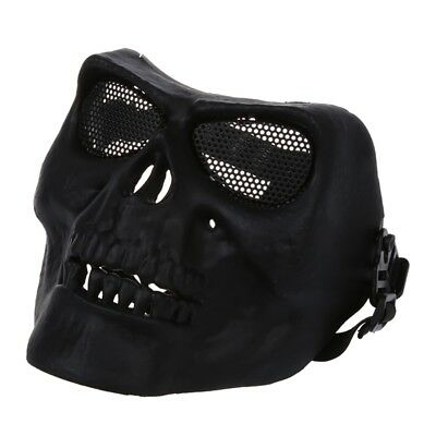 Full Face Protect Mask Scary Skull Skeleton Airsoft Paintball Hunting J7Z7