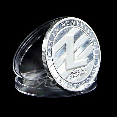 1 OZ Pure .999 Silver Plated 25 LTC Litecoin Vires in Numeris Medallion Coin