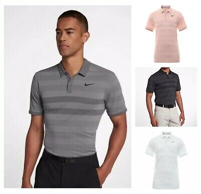 Nike Zonal Cooling Striped Mens Golf Polo Shirt Standard Fit 932209 $75MSRP