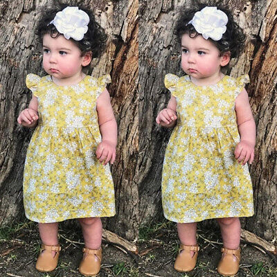 AU Canis Toddler Baby Kids Girls Princess Summer Casual Dress Sundress Clothes