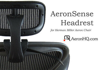 Authentic AeronHQ Headrest for Herman Miller Aeron Chair + Free Coat Hanger